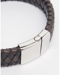 Seven London - Brown Braided Bracelet for Men - Lyst