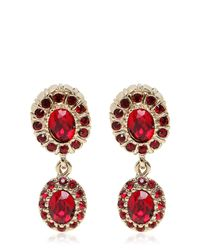 Givenchy | Red Crystal Pendant Earrings | Lyst