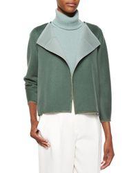 Lafayette 148 New York - Blue Odene Reversible Wool-cashmere Topper Jacket - Lyst