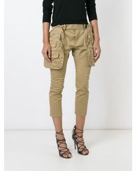 DSquared² - Green Pouch Pocket Trousers - Lyst