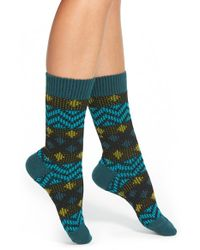 Kensie | Black Geo Pattern Boot Sock | Lyst