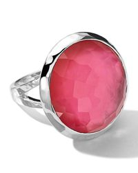 Ippolita - Red Sterling Silver Wonderland Large Eggcup Ring In Peony Doublet - Lyst