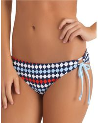 Splendid | Blue Side Tie Bikini Bottom | Lyst