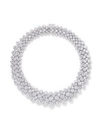 CZ by Kenneth Jay Lane | White Multi Cut Cubic Zirconia Collar Necklace | Lyst