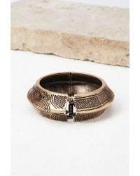 Forever 21 | Metallic Etched Hinge Bracelet | Lyst