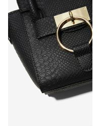 Nasty Gal | Black You're One To Croc Mini Bag | Lyst