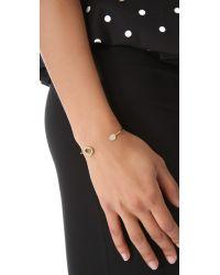 Tai | Metallic Asymmetrical Pave Bracelet | Lyst