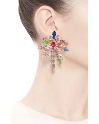 Shourouk   Multicolor Palm Crystal Earrings   Lyst