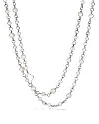 David Yurman | Metallic Chain Necklace With Pearls, 72"