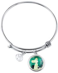 Disney | Metallic Tinkerbell Charm Bracelet In Stainless Steel With Silver-plated Charms | Lyst