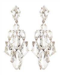 Alexis Bittar Fine - Metallic Clear Quartz & Claw Diamond Chandelier Earrings - Lyst