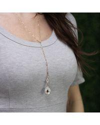 Arunashi - Metallic Orange Kite Diamond Necklace - Lyst