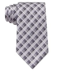 Calvin Klein | Gray Silk Check Tie for Men | Lyst