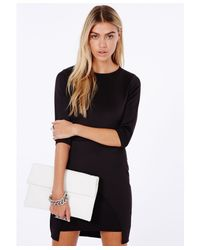 Missguided - Joycelin Black Origami Mini Dress - Lyst