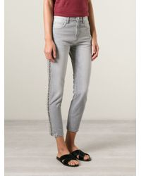 Étoile Isabel Marant - Gray Penn Slim Cropped Low-Rise Denim Jeans - Lyst