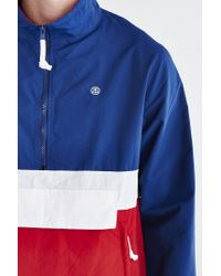 Stussy - Blue Colorblocked Anorak Jacket for Men - Lyst