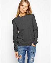 ASOS - Gray Ultimate Easy Sweatshirt - Lyst