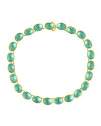 Larkspur & Hawk | Green Lily Riviere Gold-washed Topaz Necklace | Lyst