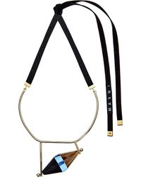 Marni | Gray Horn And Resin Necklace - For Women | Lyst