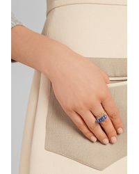 Inez & Vinoodh - Blue 18-Karat Gold Sapphire Interlinked Rings - Lyst
