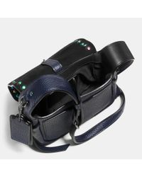 COACH | Blue Dakotah Leather Cross-Body Bag | Lyst