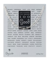 Dogeared - Metallic 100 Good Wishes Silver Necklace - Lyst