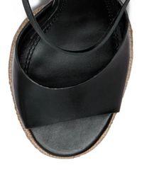 Tory Burch - Black Solana Platform Espadrille Sandal - Lyst