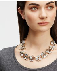 Ann Taylor | Blue Mixed Jeweled Statement Necklace | Lyst