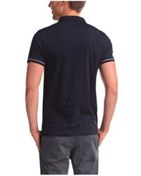 BOSS Orange Blue Cotton Polo Shirt 'pioli' for men