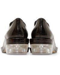 Simone Rocha   Black Croc Clear Heel Derbys   Lyst