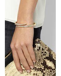 Anita Ko | Metallic Coil 18-Karat Gold Diamond Bracelet | Lyst