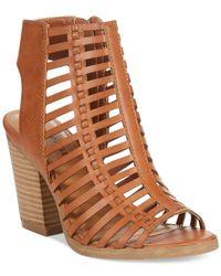 Rampage - Brown Voda Caged Dress Sandals - Lyst