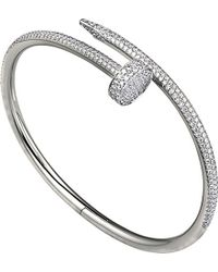 Cartier | Metallic Juste Un Clou 18ct White-gold And Diamond Bracelet | Lyst