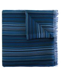 Paul Smith - Blue Striped Scarf for Men - Lyst