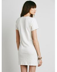 Free People - Multicolor Henley Dress - Lyst