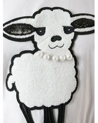 DKNY - White Sheep Applique T-Shirt - Lyst