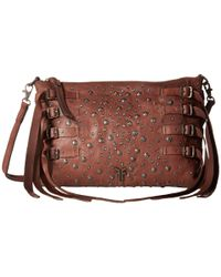 Frye | Brown Selena Stud Strappy Crossbody | Lyst