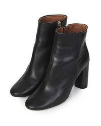 TOPSHOP - Black Magnum Heeled Boots - Lyst