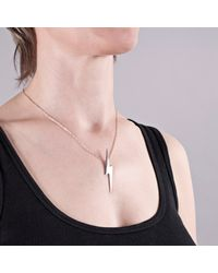 Edge Only | Metallic Pointed Lightning Bolt Pendant Silver | Lyst