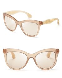 Miu Miu - Natural Crystallized Cat Eye Sunglasses - Lyst