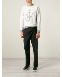 J.W.Anderson - Gray Anchor Sweatshirt for Men - Lyst