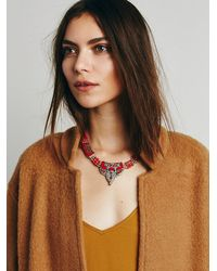 Free People | Metallic Karen London Womens Moon Shadow Necklace | Lyst