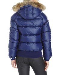 Pyrenex | Blue New Mythic Real Fur Trim Down Jacket | Lyst