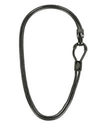 Diane von Furstenberg | Gray Holiday Pave Two-row Snake Chain Necklace | Lyst