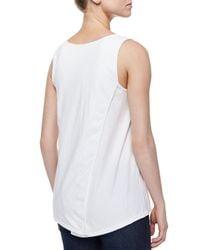 Neon Buddha | White Long Scoop-neck Tank | Lyst