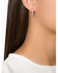 Ileana Makri - Gray 'bull' Diamond Hoop Earrings - Lyst