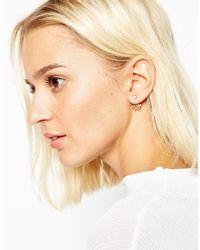 ASOS | Metallic Gold Plated Sterling Silver Pretty Vine Swing Earrings | Lyst