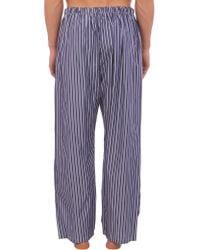 Barneys New York - Blue Striped Pajama Pants for Men - Lyst
