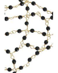 Rosantica Metallic Carmen Golddipped Onyx Finger Bracelet