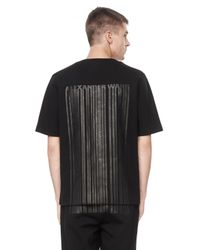 Alexander Wang - Black Bonded Barcode Logo Tee for Men - Lyst